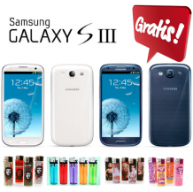 GRATIS Samsung i9300 Galaxy S3 zwart of wit 16GB